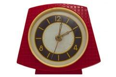 红色台式时钟 库存照片