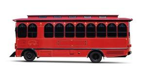 红色台车—裁减路线 库存照片
