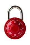 红色号码锁 免版税库存图片