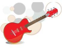 红色吉他 免版税库存图片