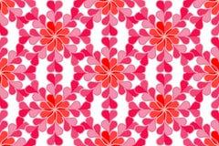 红色和桃红色心脏无缝的纹理  库存照片