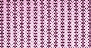 红色和桃红色棉花布料与生动的圈子的样式的和 图库摄影