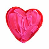 红色和桃红色被绘的心脏 库存照片