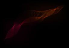 红色和桔子在黑背景挥动 图库摄影