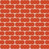 红色和棕色砖是无缝的 房子的市分墙壁 传染媒介流行艺术
