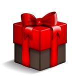 红色和棕色礼物盒 皇族释放例证