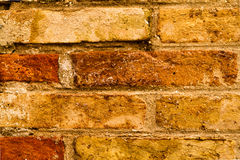 红色和棕色老砖墙纹理背景 库存照片