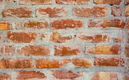 红色和棕色颜色织地不很细砖墙背景  免版税库存图片