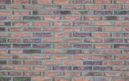 红色和灰色砖墙 免版税库存图片