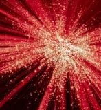 红色和白光爆炸 库存图片