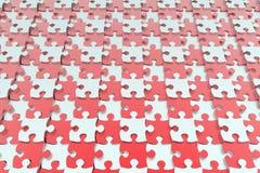 红色和白色七巧板背景 库存照片