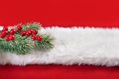 红色和白色圣诞节背景 库存图片