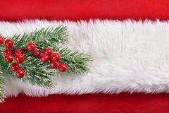 红色和白色圣诞节背景 免版税库存照片