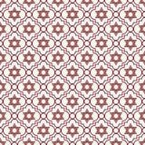 红色和白色大卫王之星重复样式背景 免版税库存图片