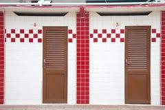 红色和白色小室 库存照片