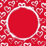 红色和白色心脏卡片 皇族释放例证