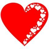 红色和白色心脏的元素 免版税库存照片