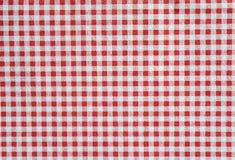红色和白色方格的背景 图库摄影