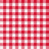红色和白色桌布纹理墙纸 库存照片