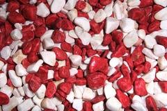 红色和白色石头 库存照片