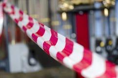 红色和白色磁带 免版税库存图片