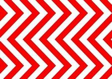 红色和白色箭头无缝的样式 免版税图库摄影