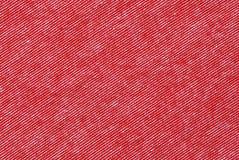红色和白色镶边棉花聚酯纹理 免版税库存照片