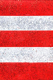 红色和白色镶边gitter背景 库存照片