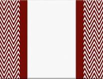 红色和白色雪佛之字形框架有丝带背景 免版税库存图片