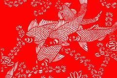 红色和白色鱼背景 免版税库存图片