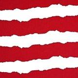 红色和白色水平的条纹 库存照片