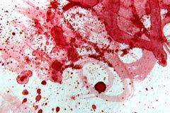 红色和白色水彩2 免版税库存照片