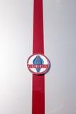 红色和白色1965年谢尔比眼镜蛇 免版税库存图片
