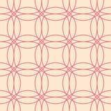 红色和米黄几何装饰品 无缝的模式 免版税库存图片