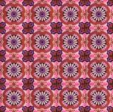 红色和紫色样式瓦片的汇集 免版税库存图片