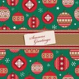 红色和绿色圣诞节包裹 库存图片
