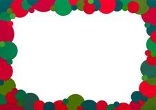 红色和绿色小点框架 免版税图库摄影