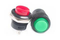 红色和绿色按钮 免版税库存图片