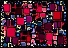 红色和蓝色块 免版税图库摄影