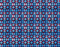 红色和蓝色样式瓦片的汇集 库存图片
