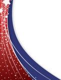 红色和蓝色爱国背景 向量例证