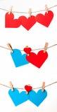 红色和蓝色重点 免版税库存照片