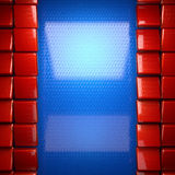 红色和蓝色金属背景 免版税库存照片
