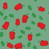 红色和青椒无缝的纹理611 向量例证