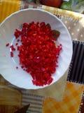 红色和鲜美 库存图片