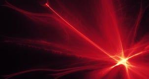 红色和黄色抽象线曲线微粒背景 图库摄影