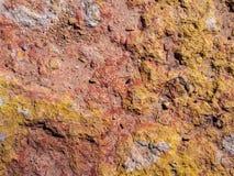 红色和黄色砂岩 免版税库存照片