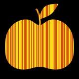 红色和黄色镶边苹果 皇族释放例证
