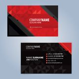 红色和黑现代名片模板 免版税图库摄影