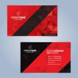 红色和黑现代名片模板 免版税库存照片